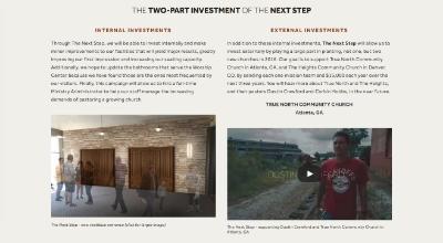 The Next Step Campaign webpage | Hulen Street Church