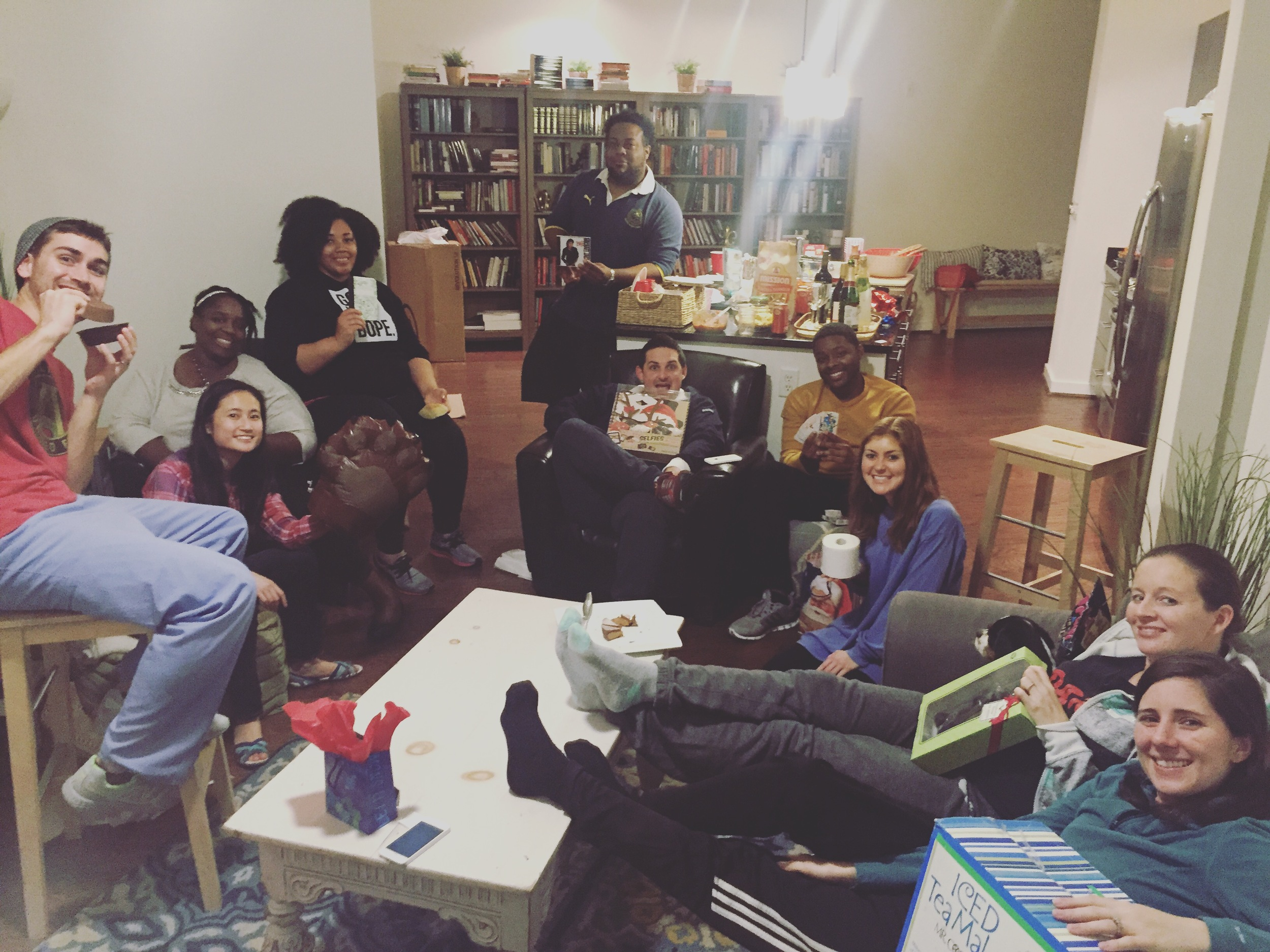 Some people from True North Community Church gathering in a home
