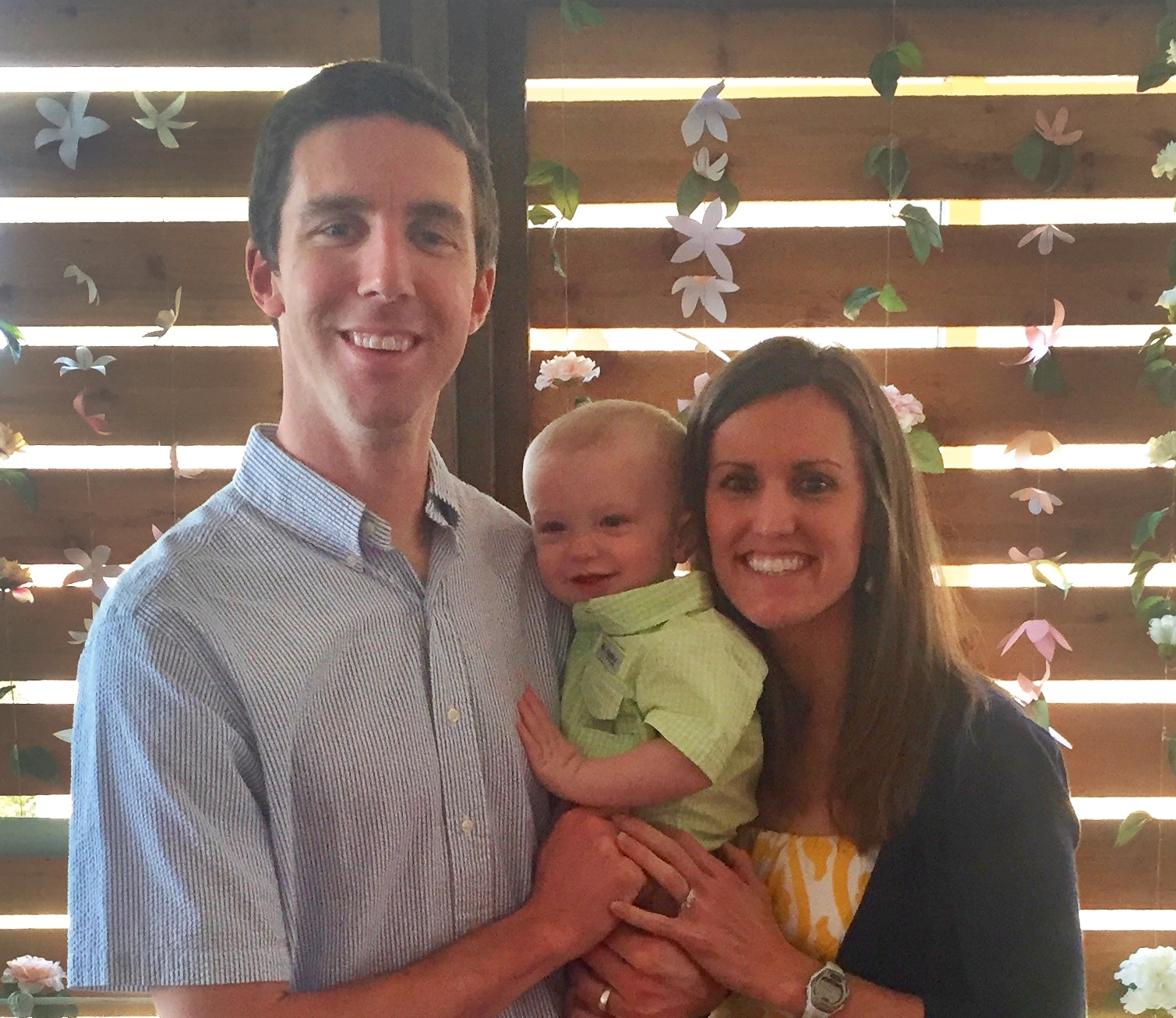 Stephanie Buckingham with her husband, Todd, and thier son, Reid.