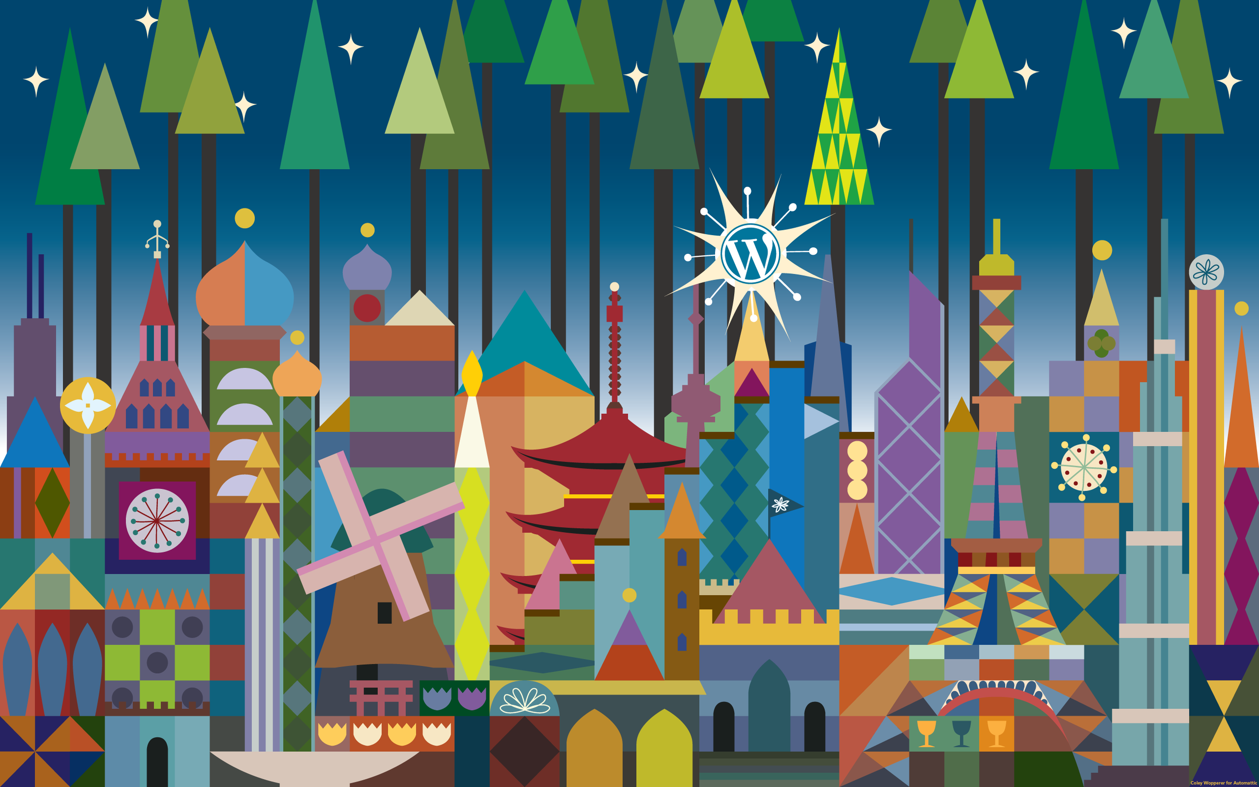 Wordpress holiday themed desktop with a multicultural to Christmas