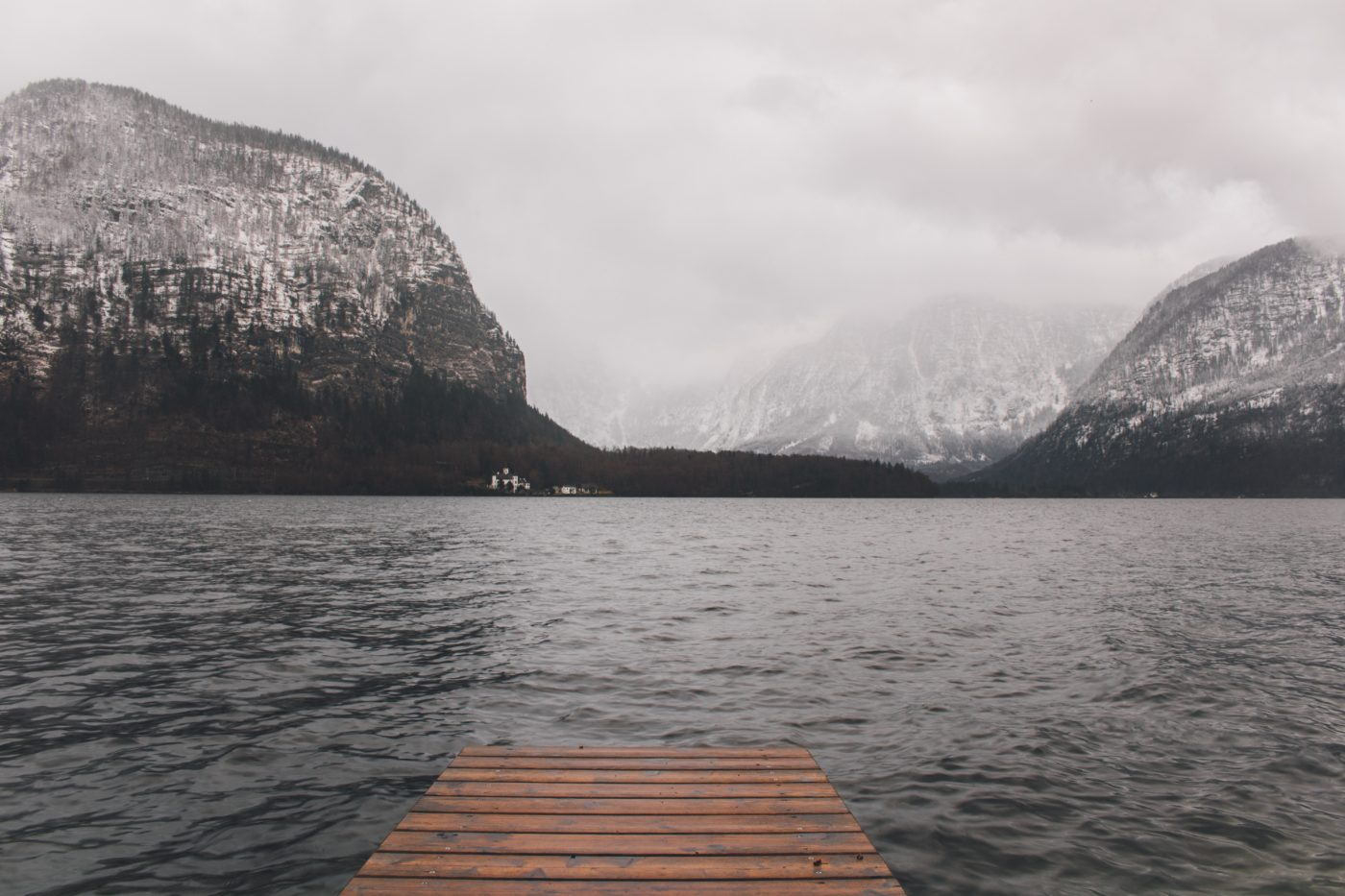 a picture of suffering with a long walk on a short pier, diving straight into the cold water