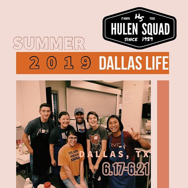 We have some pretty awesome summer experiences planned! And we cannot wait for you to be part of them and what God will do through us this summer. It's not too late to sign up for Dallas Life a homeless recovery center we will be partnering with, June 17th-21st. Comment or talk to us this Sunday to save your spot!