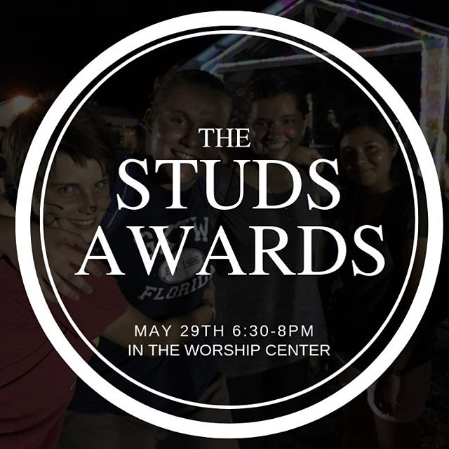 God has been with us and taught us through this season of change this year. We are excited to celebrate at the Studs Awards on May 29th. And...your parents are inviting. We will be catering Rosas Cafe and awarding six students and two adult leaders awards. #andtheawardgoesto #studsawards #Godisinthischilistonight #hulensquad
