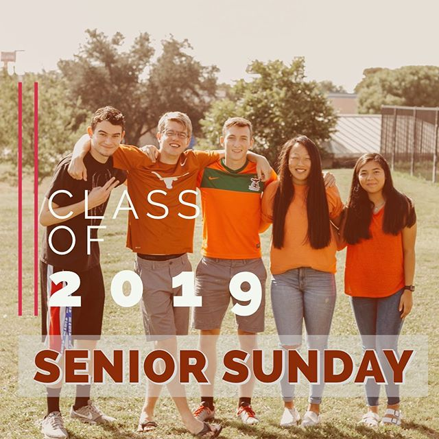 We are excited to celebrate our class of 2019 and their parents this Sunday! We have laughed, we've cried, and traveled across the world with these seniors. Be here this Sunday as we get them ready to launch into adulthood and an adult faith.