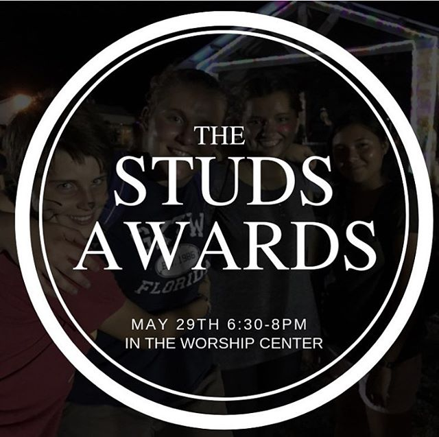 There will be rain but we are STILL ON for the Studs Awards tonight!! We have NOT cancelled any Wednesday night activities at the church tonight!  We can't wait to see you all there 👍🏼 ⭐️ 🏆 💯 🌮