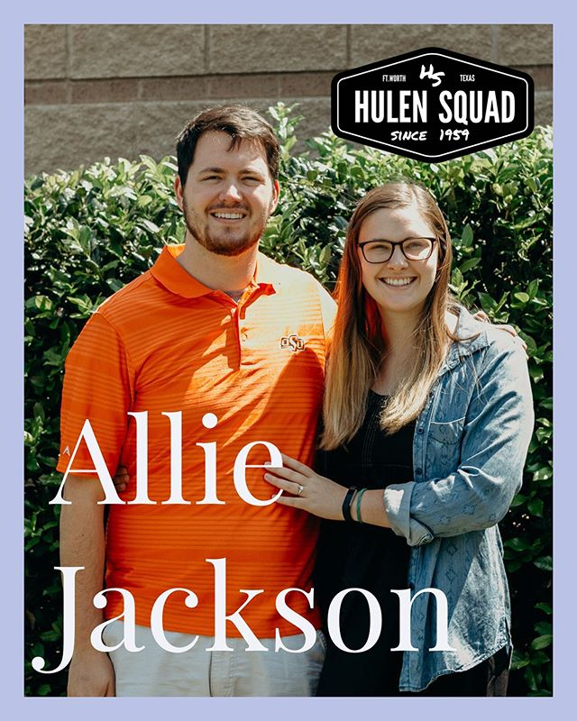 Happy birthday @allieactionjackson! It's been such a great year watching you grow as a middle school leader and all the relationships you have built over the past year and a half. We are thankful that God led you and Rooke to Hulen Street. We look forward to hearing your infectious laugh make us laugh and all that God has in store for this year. #hulensquad