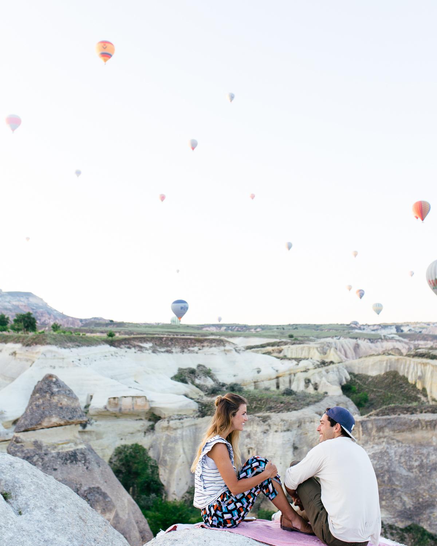 azure cave suites cappadocia hot air balloons