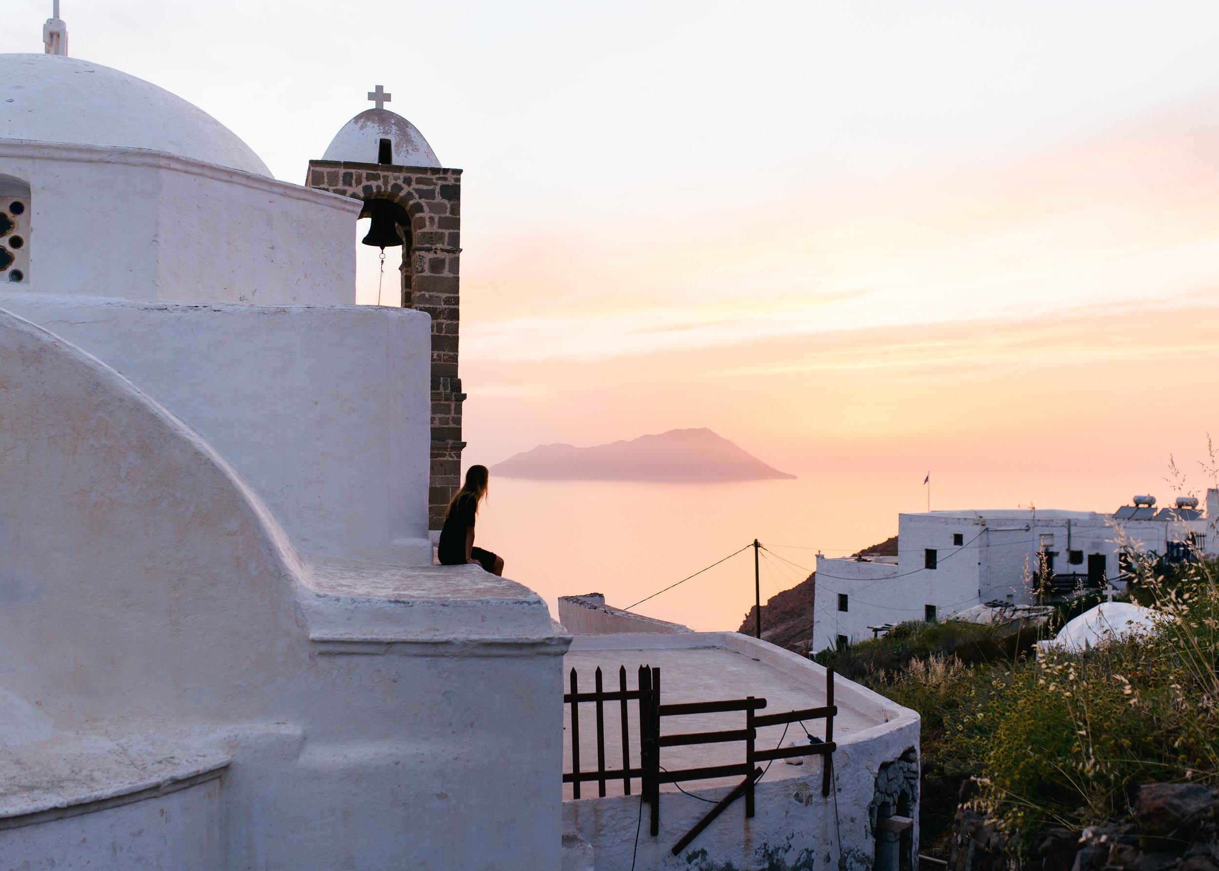 milos greece sunset
