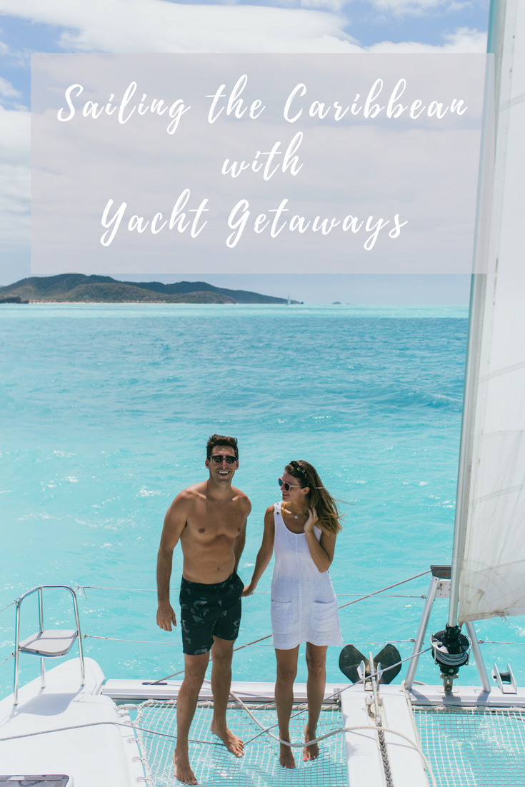 sailing around antigua island in the caribbean with yacht getaways