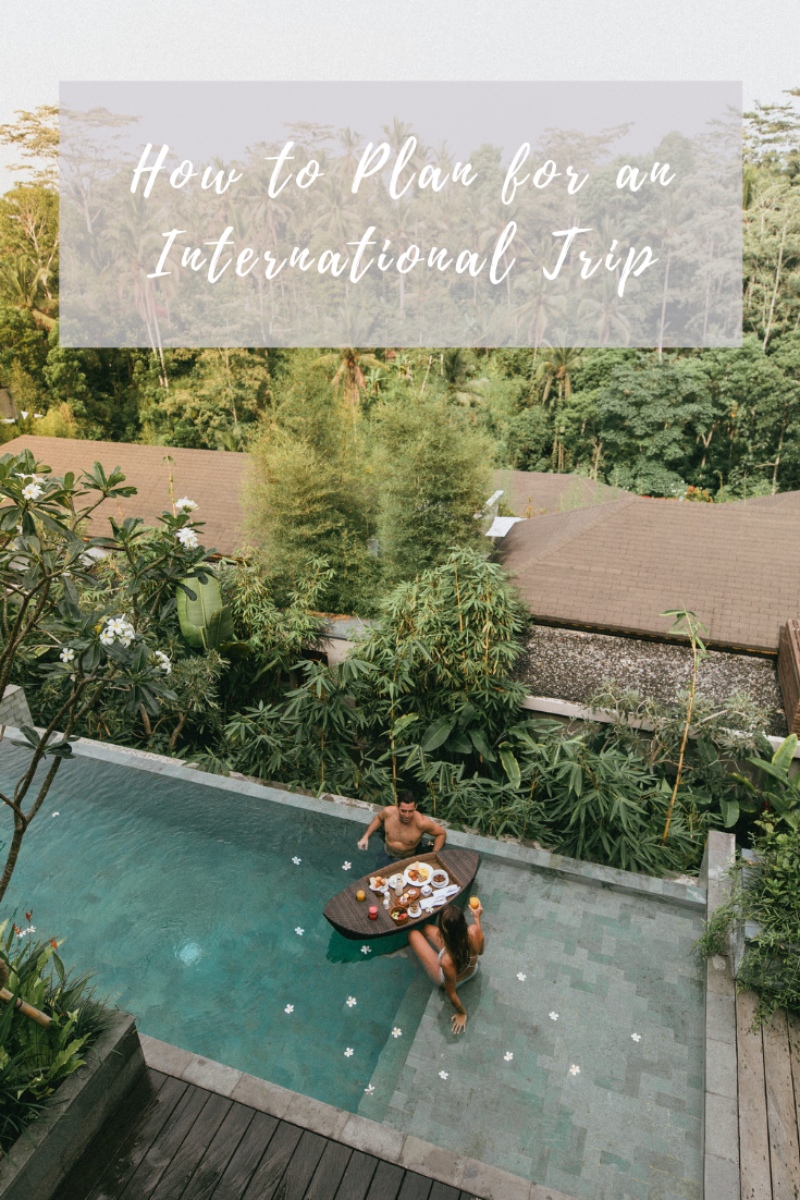 how to plan for an international trip