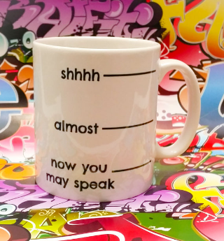 Personalized coffee mug by The T Bird