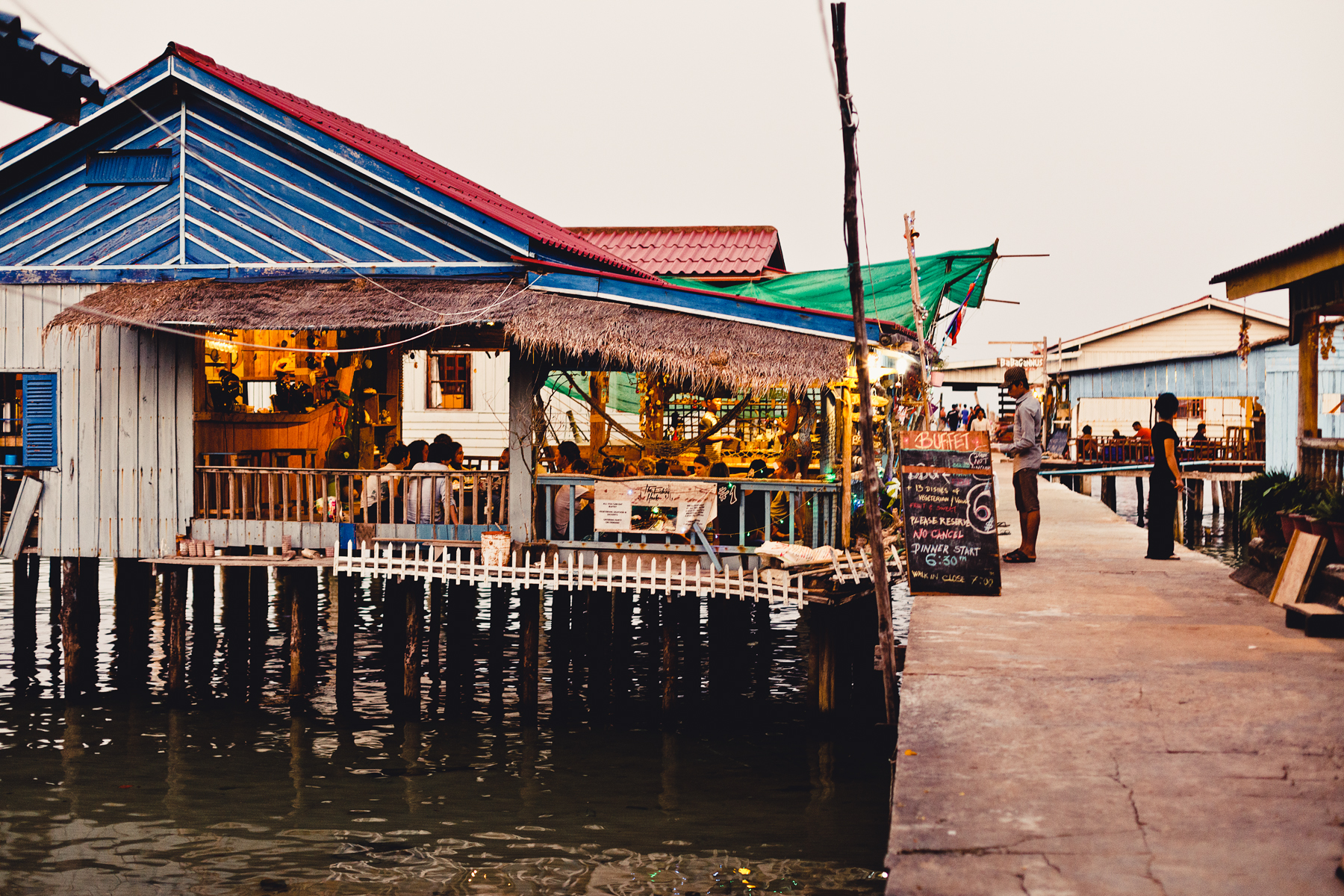 The food at  The Fishing Hook  is seen as the best on the Island by many.