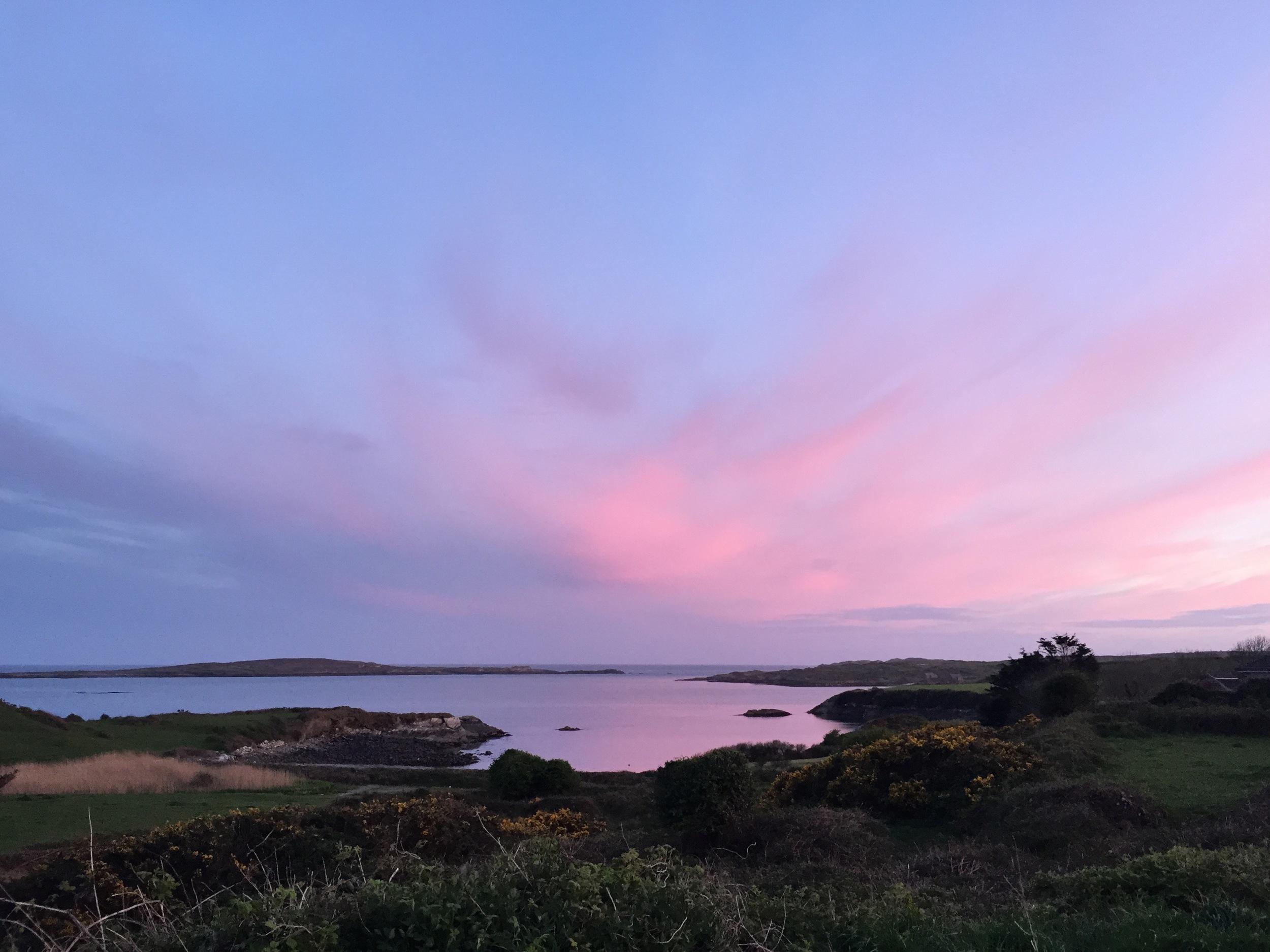 sunset crewe bay