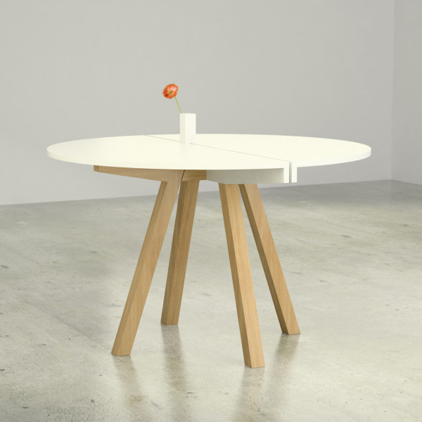 The tables easily assemble and come in a flat box making them a practical option.