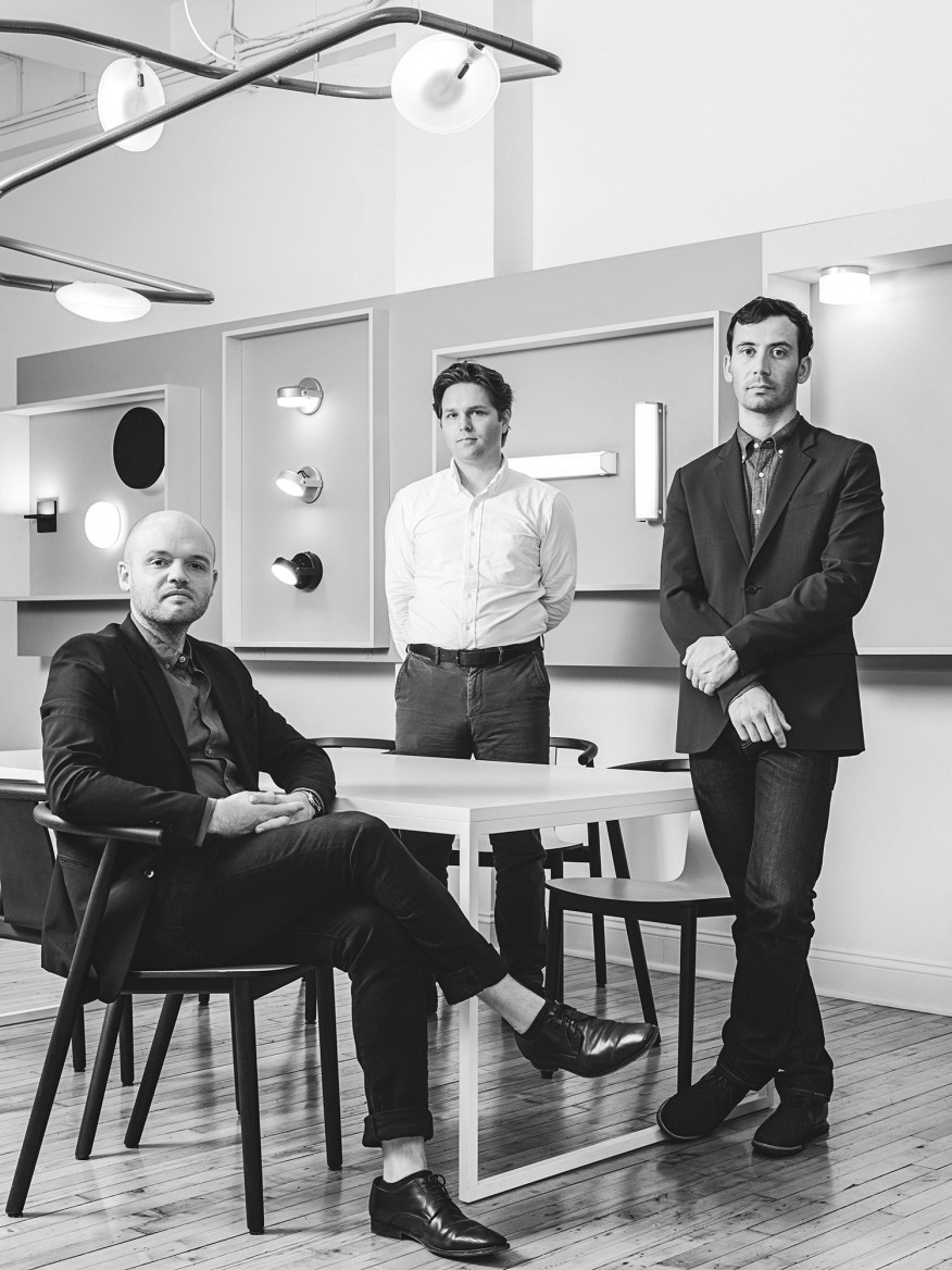 From left: Rich Brilliant Willing's co-founders Alex Williams, director of sales; Charles Brill, director of operations; and Theo Richardson, director of development.