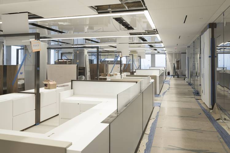 At the new Citigroup offices, most desks won't be assigned. PHOTO: SASHA MASLOV FOR THE WALL STREET JOURNAL