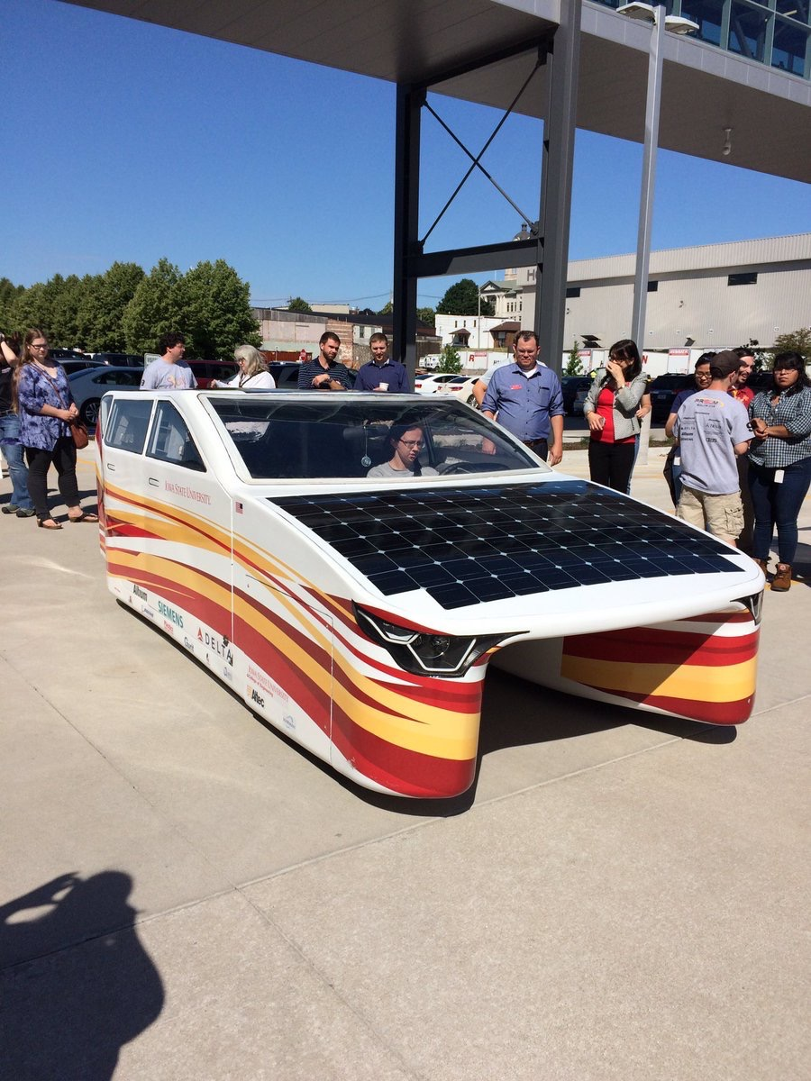 honcompany  So cool to see the @PrISUm_Solar car at HNI headquarters today! Go @IowaStateU and thanks for choosing HNI seating. pic.twitter.com/fxa47V6pAf  Jun 20, 2017, 10:03 AM
