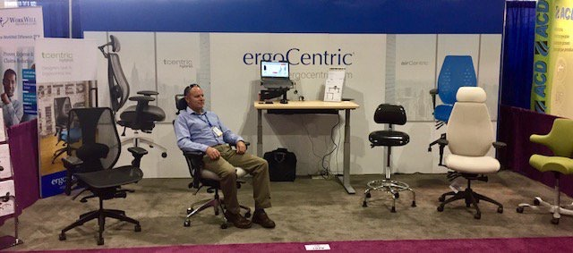 """ergoCentric  #Denver this week for #Safety2017. #heightadjustables & #ergonomic seating solutions on display in booth 1979. Drop by & say """"hi"""" to Mark! pic.twitter.com/d1uE00f5JG  Jun 20, 2017, 10:51 AM"""