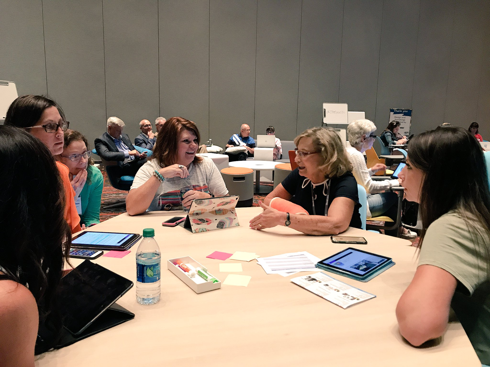 """SteelcaseEDU  """"Let your students own their learning."""" Dr. Julie Marshall speaking at our #ISTE17 session. https://t.co/CUjdBl9GmY  6/26/17, 3:37 PM"""