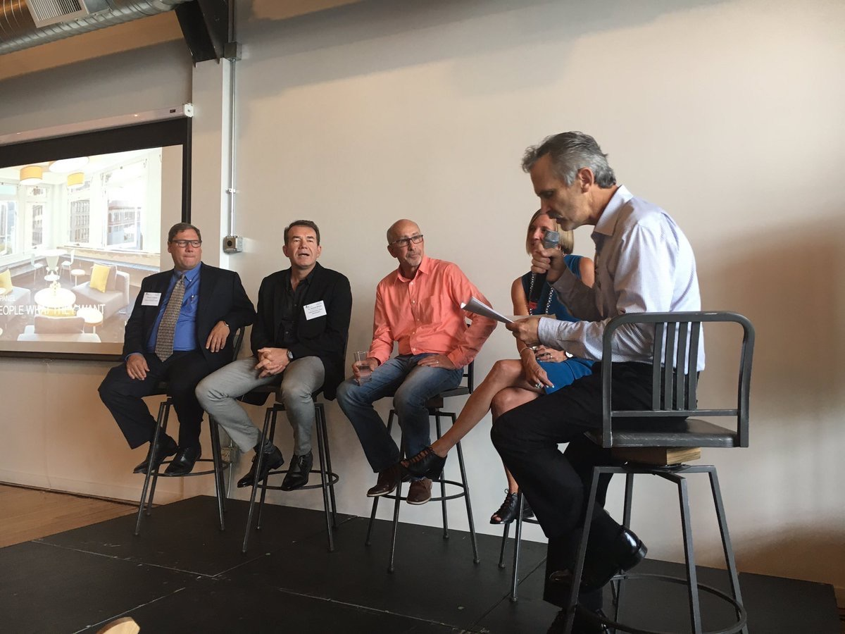 thelisamccabe  @IAarchitects #Seattle JIm Truhan leading Future Offices discussion around determining what employees want from the workplace experience pic.twitter.com/iRMkT28Cqr  Aug 23, 2017, 3:05 PM