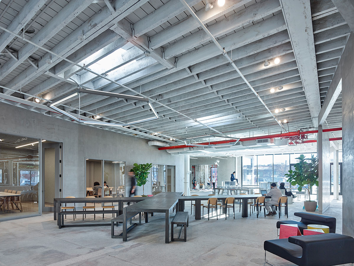nARCHITECTS's ADO creative space in Brooklyn, NY. Courtesy ADO + nARCHITECTS, by Matthew Carbone