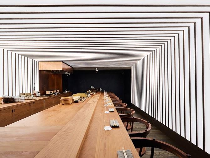 Otoko, in Austin, Texas, one of the nominees for the James Beard Award in restaurant design.Photo: Jett Butler