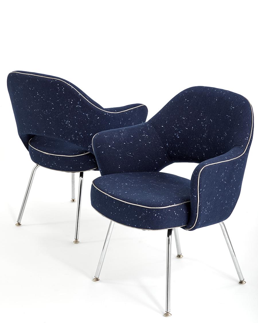 The All Star textile, applied to Knoll's Saarinen Executive Armchair.  Courtesy KnollTextiles