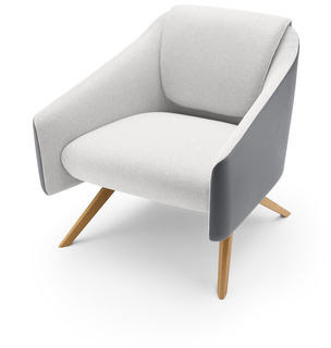 A chair from Boss Design's new collection of lounge tub chairs, DNA.