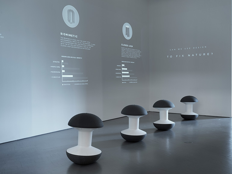 RECKONstruct at the U.S. Pavilion at the Trienniale di Milano.Developed in partnership withArup, Humanscale, MIT's SHINE Program,Novità Communications,NextWave Plastics,Stickbulb, and NeoCon. Photography byMatteo Imbriani.