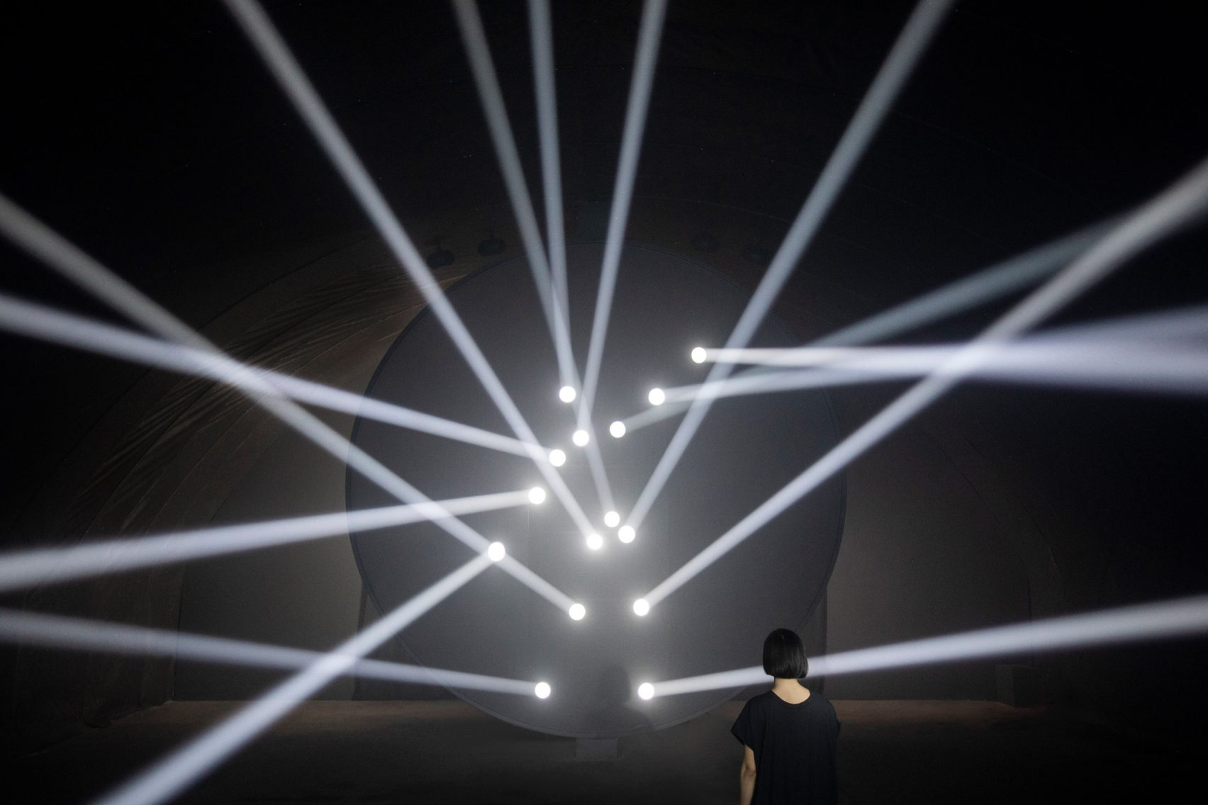 Humanscale's Bodies In Motion installation for Milan design week is an interactive light sculpture
