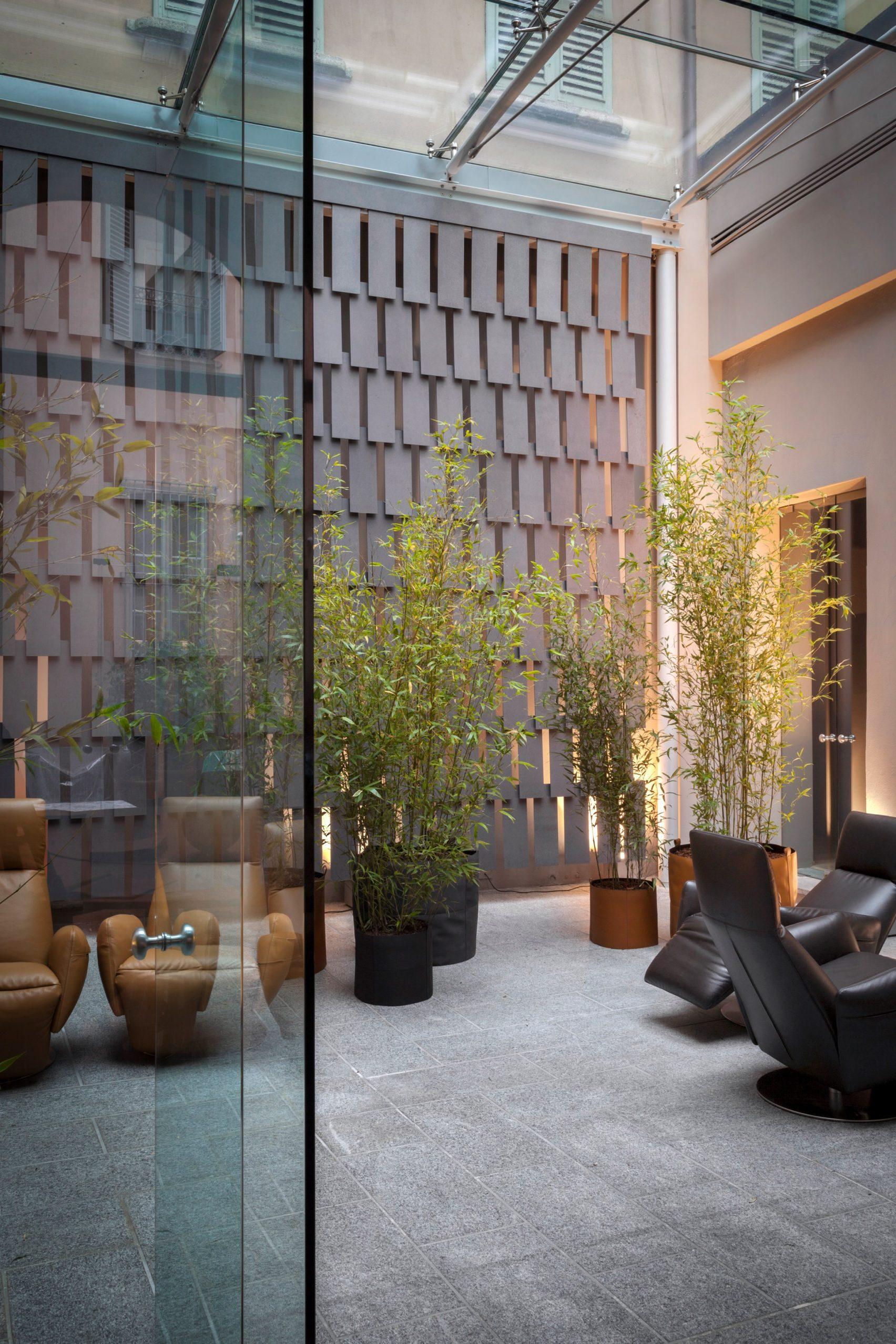 Michele De Lucchi designed the showroom of Italian furniture brand Poltrona Frau for Milan design week