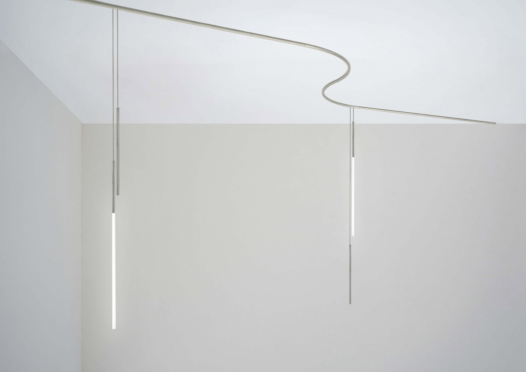 My Circuit lighting system by Michael Anastassiades is one of the Flos pieces on show
