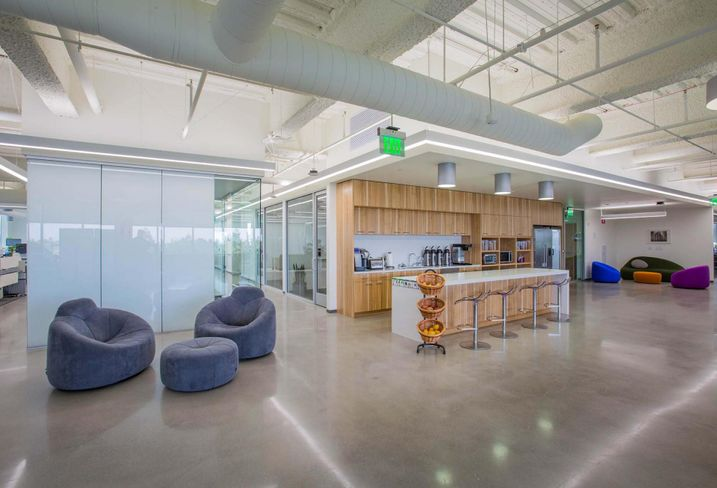 23andMe's kitchen and meeting space