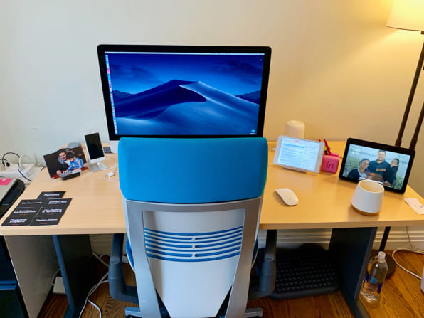 InVision CEO Clark Valberg's home office. [Photo: courtesy Clark Valberg]