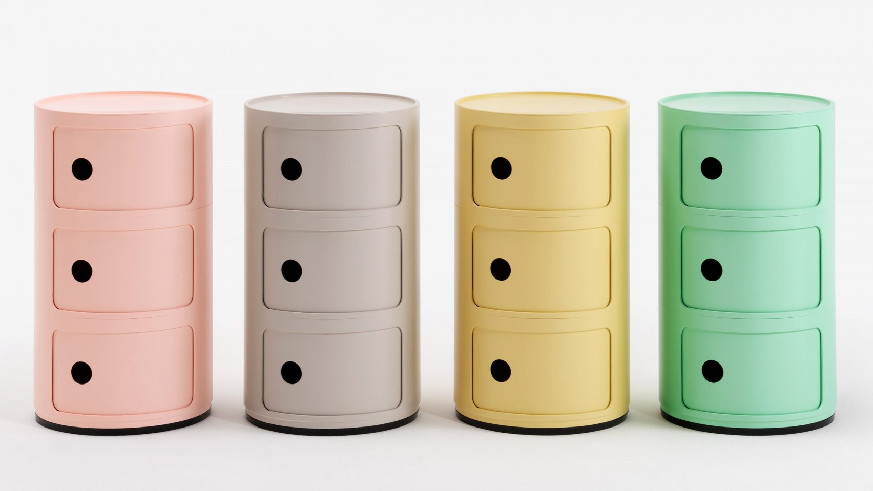 Kartell has released a bioplastic version of its iconic Componibili storage unit