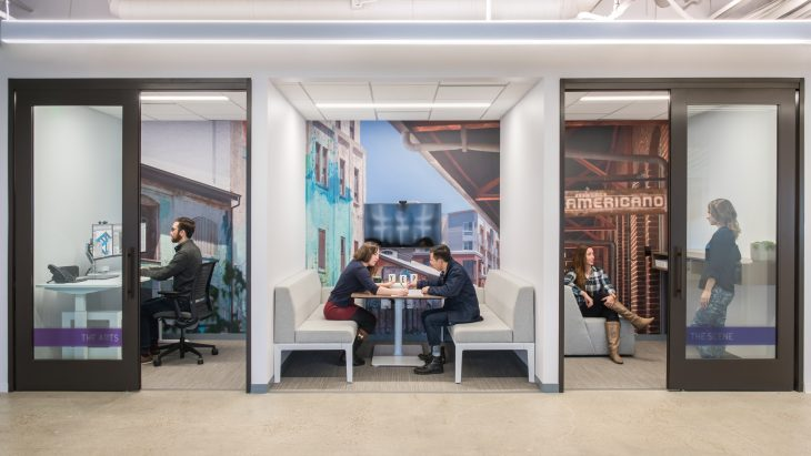 Designing spaces that accommodate different work modalities allows people to achieve their best work. DLR Group Studio in Los Angeles by DLR Group. Photo by Andrew Scott.