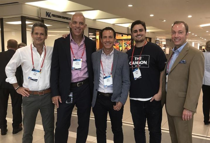 Bisnow/Tierra Smith Boxer Property President Justin Segal, Gensler co-Managing Director and principal Hunter Clayton, CommonGrounds CEO Jacob Bates, The Cannon founder and CEO Lawson Gow and E.E. Reed Construction Vice President Scott Crain at the Houston State of Office event.