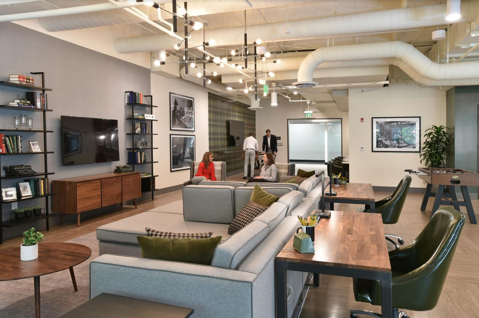 The Lounge at the Royal Club provides a multiple of activity areas for building tenants – Image courtesy of Bridge Commercial Real Estate