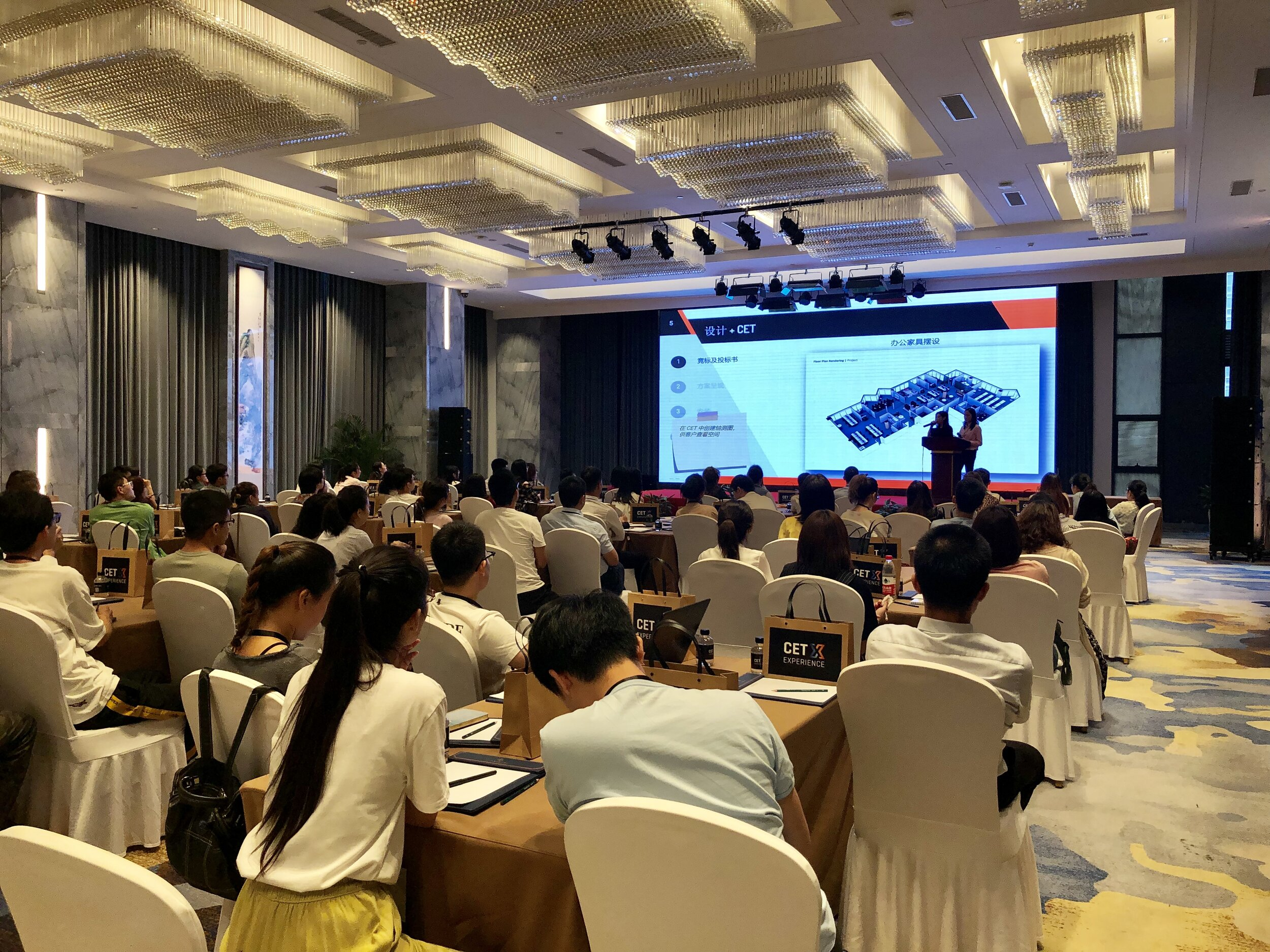 A session at the 2019 CET Experience in China