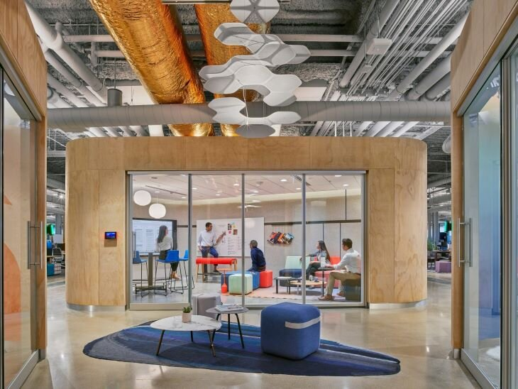 Invite people to learn and engage in multiple ways. Image courtesy of Steelcase.