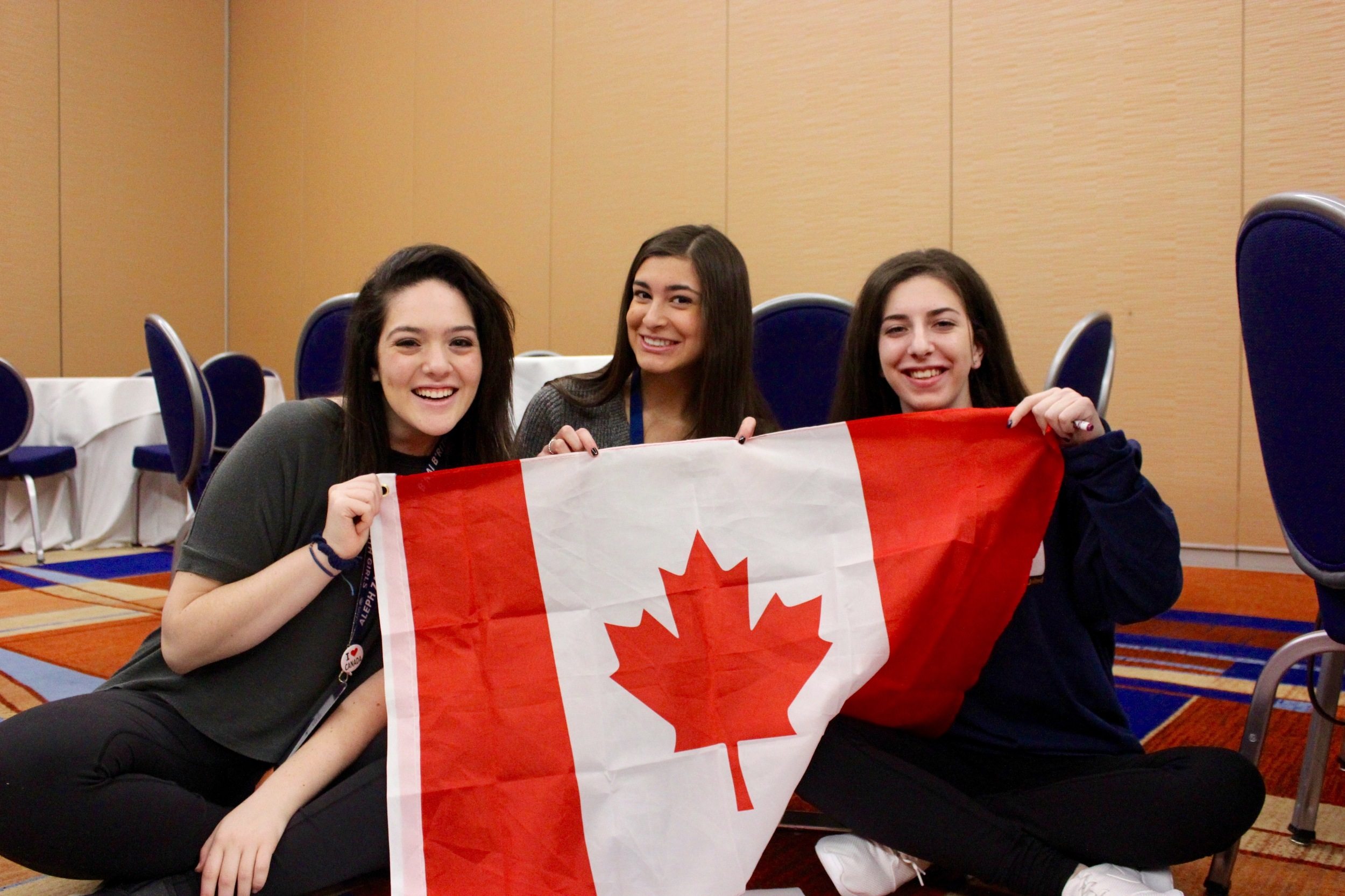 Canadian teens at CNS sporting their pride!