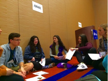 Teens discussing the importance of having political discussion without dividing our community.