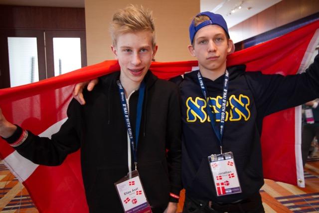Danish BBYO teens Elias Axel Kaerhoeg (Left) and Jonathan Schustin (Right).  Photo by Michael Blickstein.