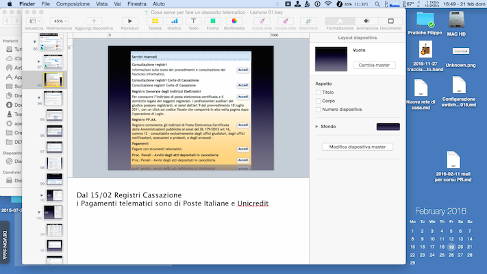 """Monitor 11"""" del mio MacBookAir"""