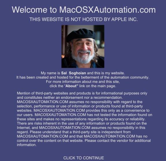 Schermata del sito di Sal Soghoian