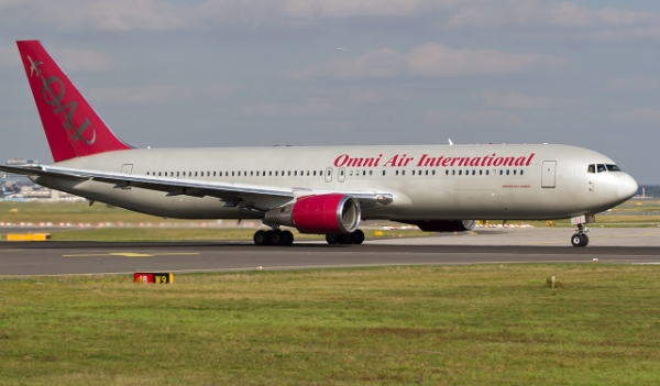 Condor Boeing 767 operated by Omni Air International Photograph taken at FRA by D. Hedinger
