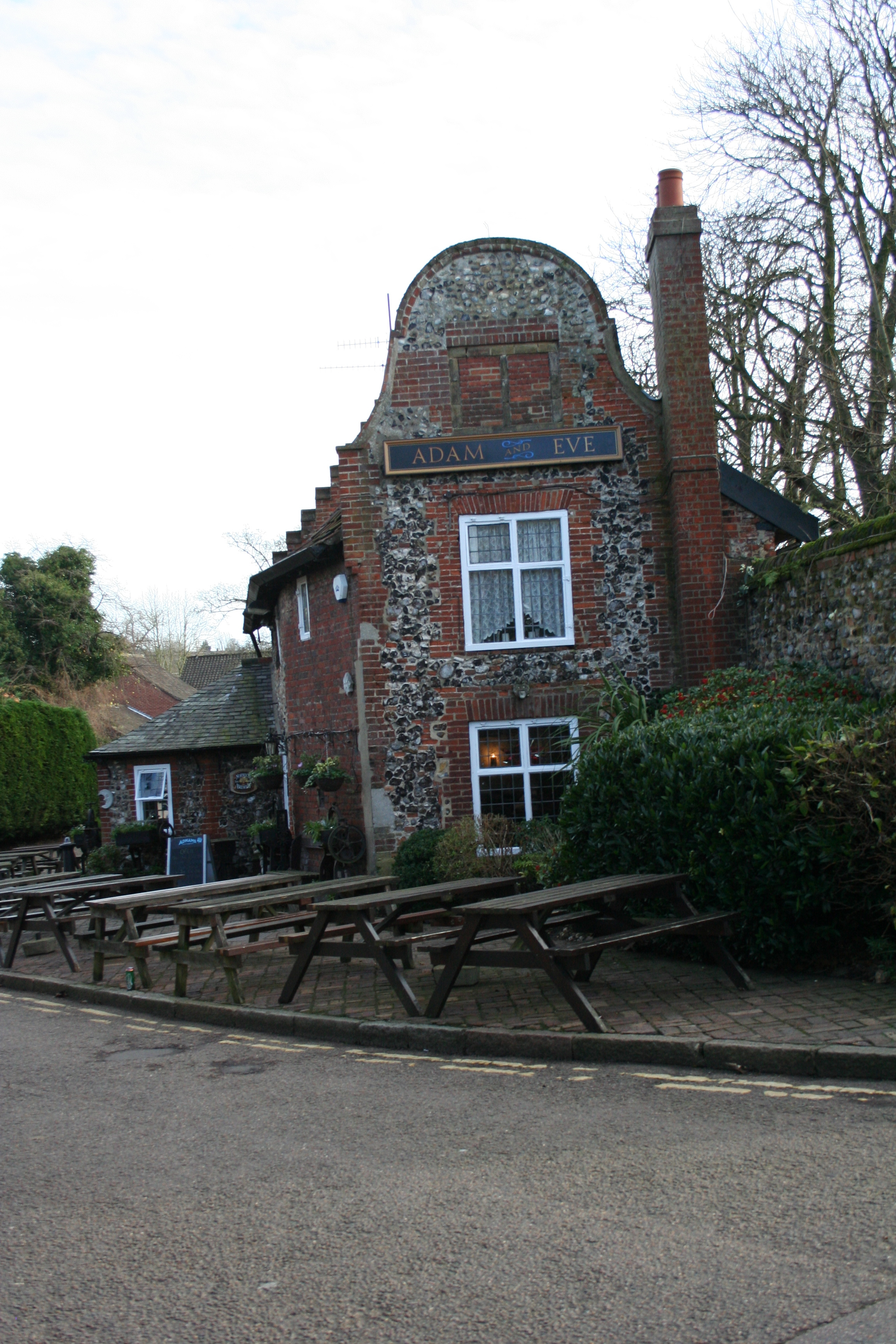 The Adam and Eve pub in Bishopgate, near Norwich Cathedral. It is claimed to be the oldest pub in the city, with the earliest tavern on site dating back to at least 1249.