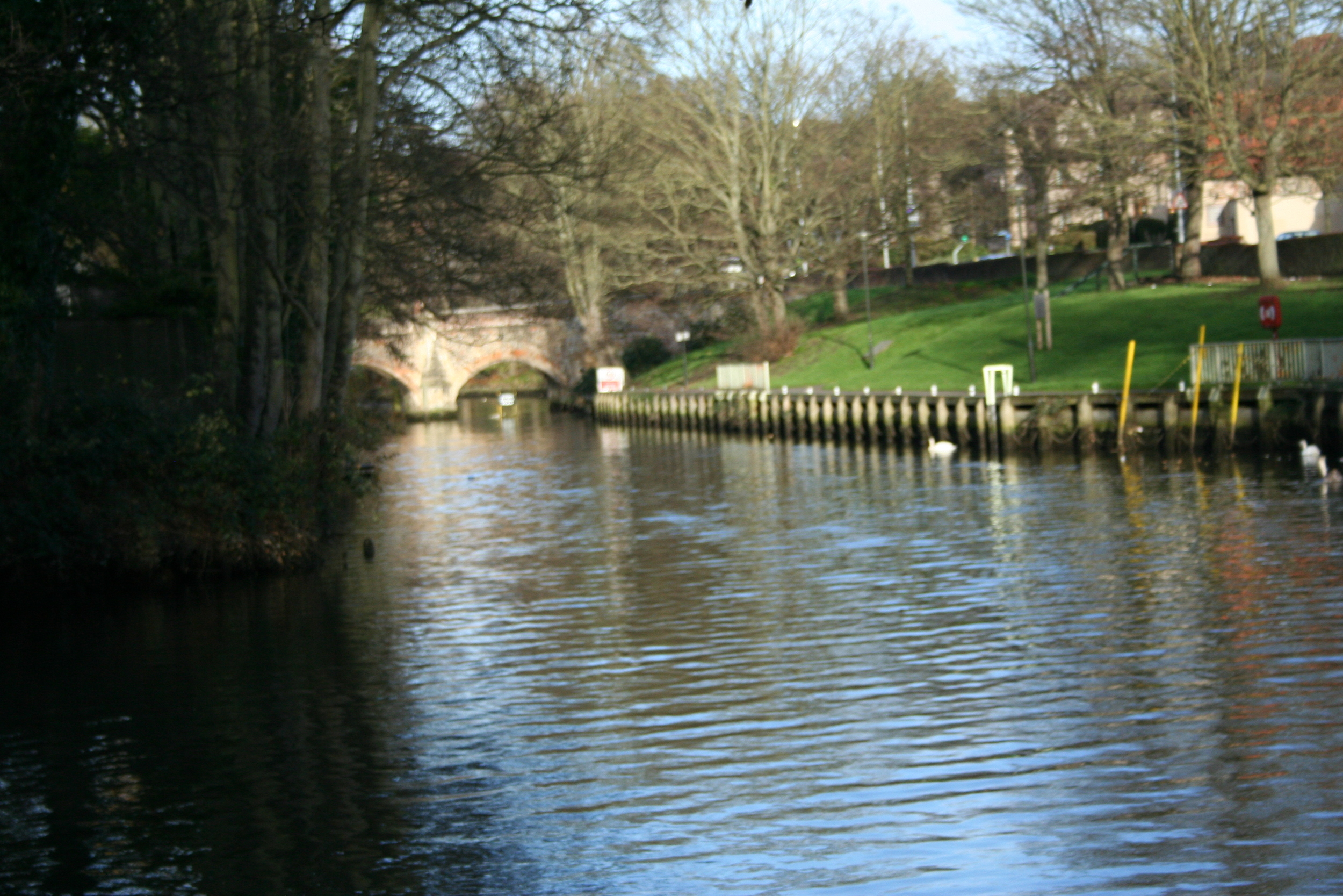 The River Yare in the middle of Norwich city.