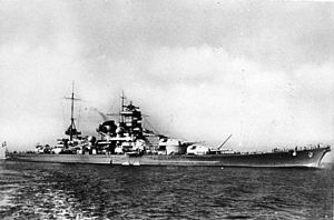 The German battleship  charnhorst  was one of two Axis vessels that were able to pass through the English Channel after radar communications were jammed on the southern coast of England.