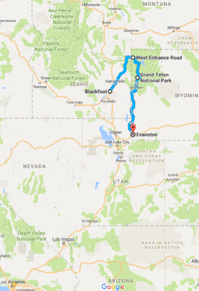 Day 5:Blackfoot, ID→ Evanston, WY - Noteworthy stops:Yellowstone National ParkGrand Teton National Park
